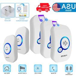 Latest Wireless Waterproof Smart Doorbell 32 Songs 2 Transmi