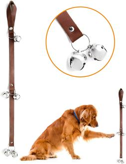 Leather Tinkle Bells Premium Leather Dog Doorbells Extra Sof