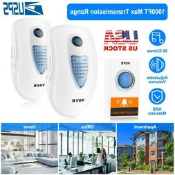 LED 3 Volume 1000FT Wireless Doorbell 38 Chime