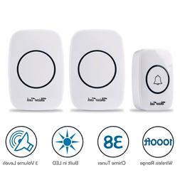led 3 volume 1000ft wireless doorbell 38