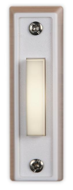 Doorbell Button bright WHITE LED lighted wired - Made in Ind