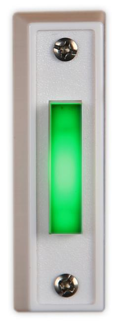 LED Doorbell Button GREEN Made in USA Military Garage Push B