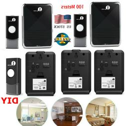 1byone LED Wireless Door Bell Doorbell Button+Receiver Kit C