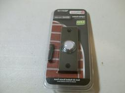 Utilitech Lighted Button LED Wired O-R Bronze Finish Doorbel