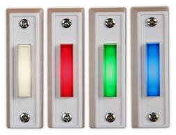 Lighted Doorbell Button Replacement  Wired LED Made in USA