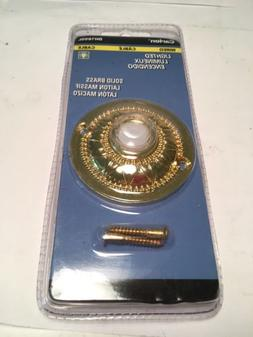 Carlon Lighted Doorbell Button Solid Polished Brass Door Bel