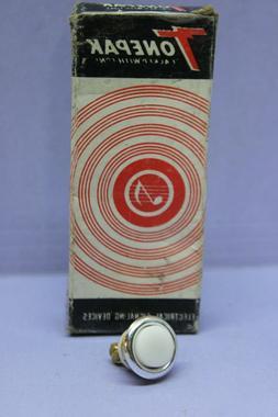 ✅ Tonepak Lighted Doorbell Push Button - Wired Nickel/Bras