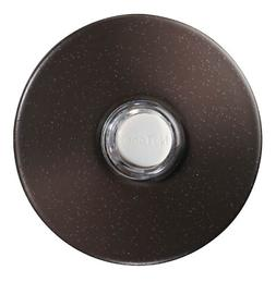 Lighted Round Stucco Pushbutton, Oil-Rubbed Bronze