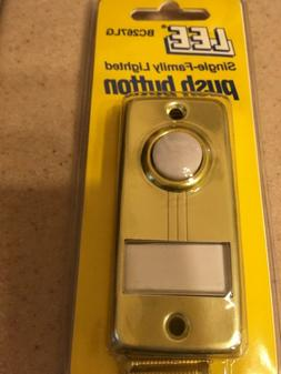 Lee Electric lighted single push button for doorbell