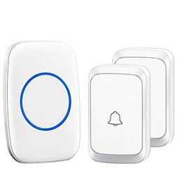 CACAZI Model A60 Wireless Doorbell with 1 Receiver Plugin an