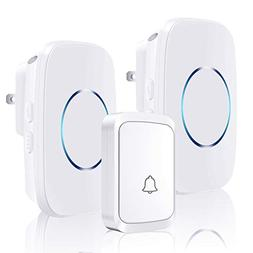 CACAZI Model A60 Wireless Doorbell with 1 Remote Button and