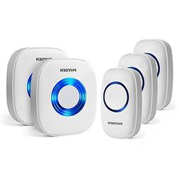 PHYSEN Model CW Wireless Doorbell kit with 3 Push Buttons an