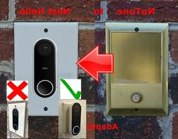 Nest Hello NON FLUSH MOUNT Doorbell adapter plate Nutone and
