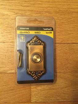 New Carlon Antique Brass Push Button Lighted Doorbell With D