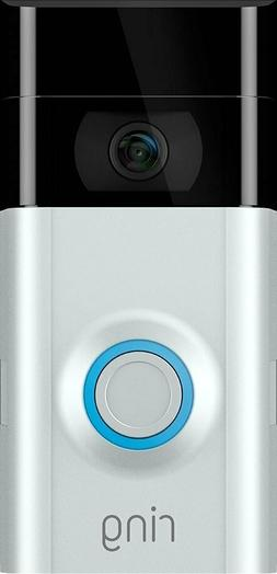 Ring Video Doorbell 2 Camera Satin Nickel Wifi 1080 HD Wirel
