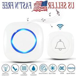 NEW Wireless Doorbell Door Chime Kit Button Receiver Home Al