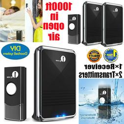 Newest Wireless Doorbell Battery Operated Door Bell 2 Remote