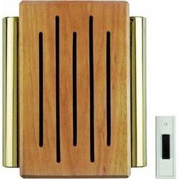 Carlon Lamson & Sessons RC3306F Wood And Brass Wireless Door