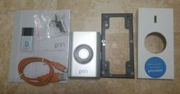 Open Box Ring Doorbell 2 Silver  Face Plate angle mount and