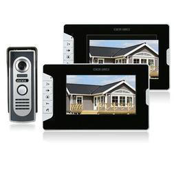 OWSOO 7 Inch Video Door Phone Doorbell Intercom Kit 2 Indoor