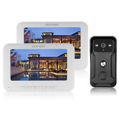 OWSOO 7 inch Wired Video Doorbell 2 Indoor Monitor with IR-C