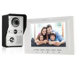 "OWSOO 7"" Wired Camera Video Intercom Doorbell Remote Unlock"