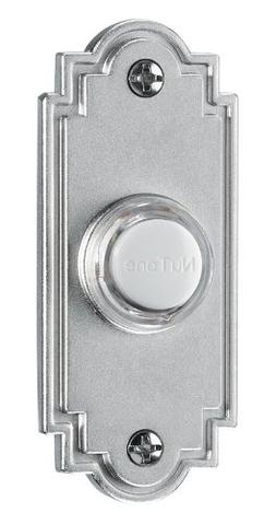 NuTone PB15LSN Wired Lighted Door Chime Push Button, Satin N