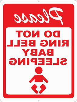 Please Do Not Ring Bell Baby Sleeping Sign. Size Options. No