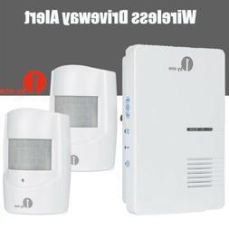 1byone Plug-in Doorbell Driveway Alarm Motion 2x Sensor Aler