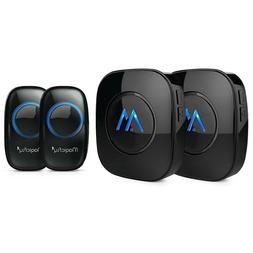 Magicfly Portable Wireless Doorbell Kit Remote Button Operat