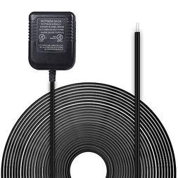 HOLACA Power Adapter 20ft/6m, Video Doorbell Power Supply Co
