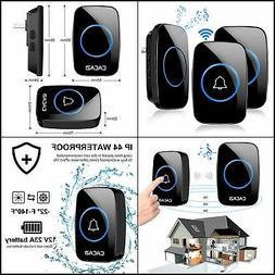 Remote Waterproof Wireless House Doorbell 38 Songs Chime Doo
