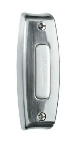 Satin Nickel Wired One-Lighted Door Chime Push Button Classi