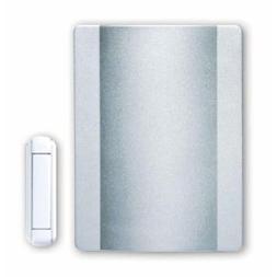 Heath Zenith Satin Nickel Wireless Doorbell Chime with White