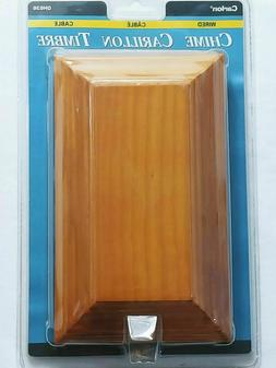 New Carlon Sculptured Wood Wired Door Chime  Carlon DH636