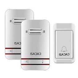 Cacazi Self-Powered Waterproof Wireless Doorbell Led Light N
