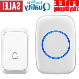 Simple Wireless Doorbell 1000 Feet Operating 1 Plug-in Recei