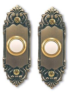 Heath Zenith SL-925-02 Wired Door Chime Push Button, Antique