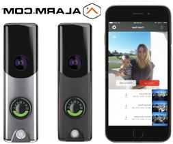 SkyBell Slim Line Wi-Fi Doorbell Camera Alarm.com Color Nigh