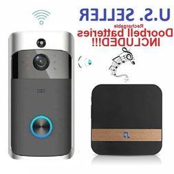 Doorbell Camera Battery Smart Home Waterproof WiFi Wireless