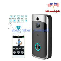 Smart Video Wireless WiFi Door Bell IR Visual Camera Record