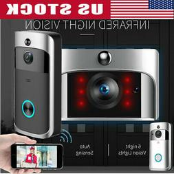 smart video wireless wifi door bell ir