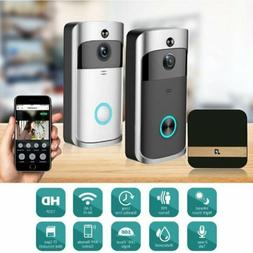 Smart Video Wireless WiFi Door Bell PIR Visual Camera Record