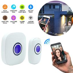Smart WIFI Doorbell Camera Phone Intercom Wireless Door Bell