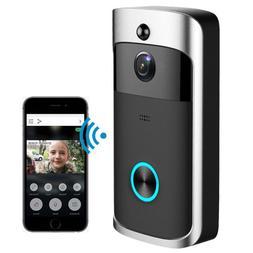 Smart WiFi Doorbell Wireless IR Video Camera Record Home Sec
