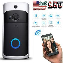 Smart WiFi Wireless Doorbell Video Two-Way HD Talk PIR Door