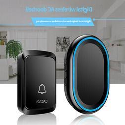 CACAZI Smart Wireless Doorbell Waterproof 300M Range Remote