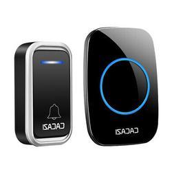 Cacazi Smart Wireless Doorbell Waterproof Remote 300M Led In