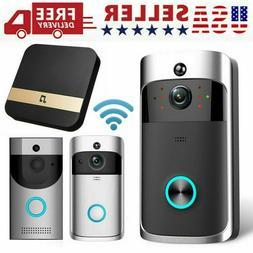 Smart Video Wireless Wi-Fi Door Bell IR Visual Camera Record