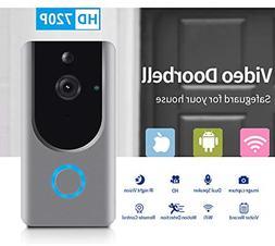 Smart Wireless WiFi Video Doorbell HD Security Camera with P